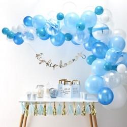 Arche de ballons bleu anniversaire fête mariage décoration couronnes ballon