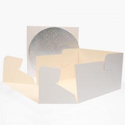 Boîte à gâteau + plateau carton plateau gâteau transport entremet rigide