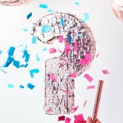 Piñata - Fille ou garçon? rose ou bleu bobon fête baby shower fille garçon confettis surprise