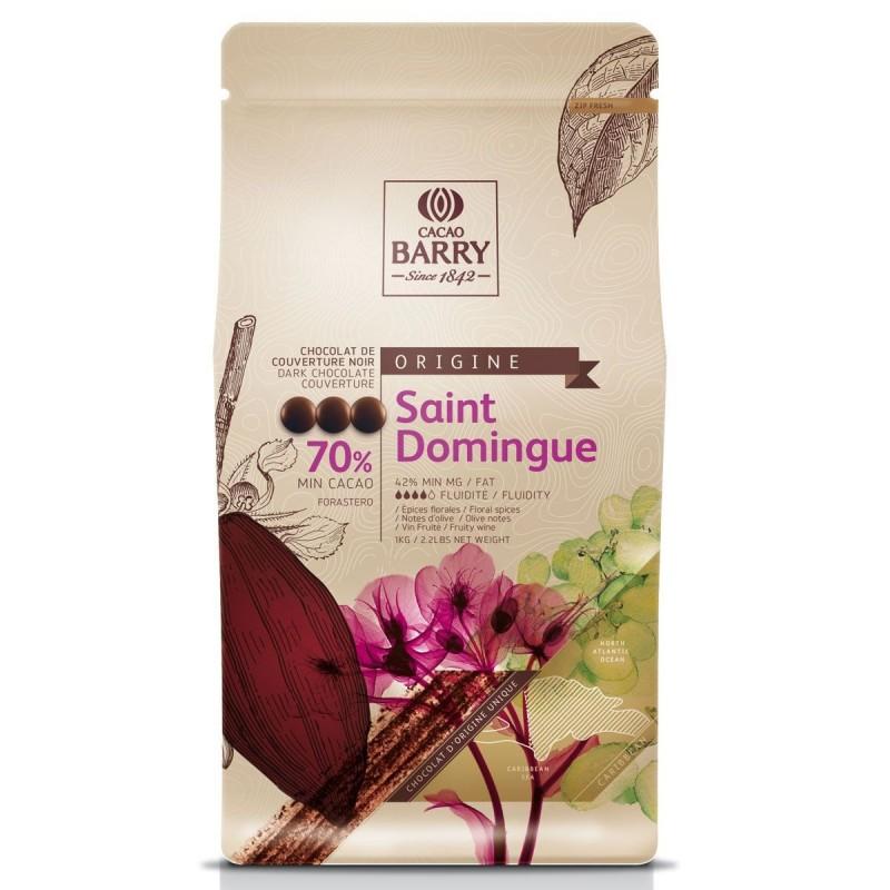 """Chocolat noir Barry """"Saint Domingue"""" chocolat gâteau ganache"""