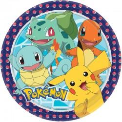 """Assiettes """"Pokémon"""" anniversaire pikatchu dessin annimé couvert table"""