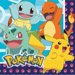 """serviette""""Pokémon"""" anniversaire pikatchu dessin annimé couvert table"""