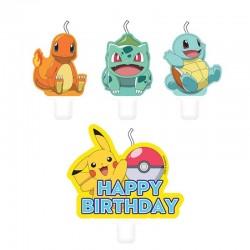 """Bougies """"Pokémon"""" gâteau décoration dessin annimé pikatchu"""