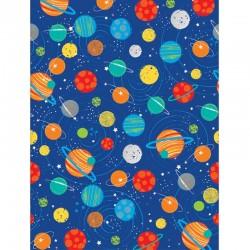 """nape """"Galaxie"""" anniversaire galaxie fusée planette fête décoration couvert"""