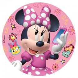 """Disque en sucre """"Minnie"""" décoration gâteu"""