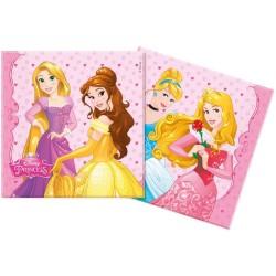 """Serviettes """"Princesse"""" décoration table princesse fête anniversaire fille raiponce belle cendrion aurore"""