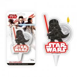 """Bougie """"Star Wars"""" bougie 2 d anniversaire gâteau luc darkvador"""