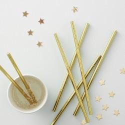 """Pailles """" dorées"""" anniversaire fête décoration cartonnée"""