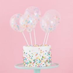 Mini ballons à confettis décoration gâteau ballon fête anniversaire confettis