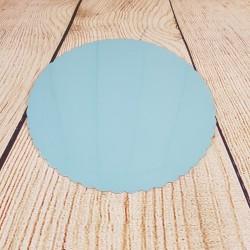 Plateau festonné bleu