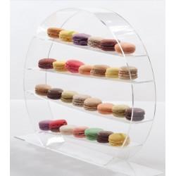 Support cercle - 4 étages exposition présentoir rond pâtisseries macaron étage moyen