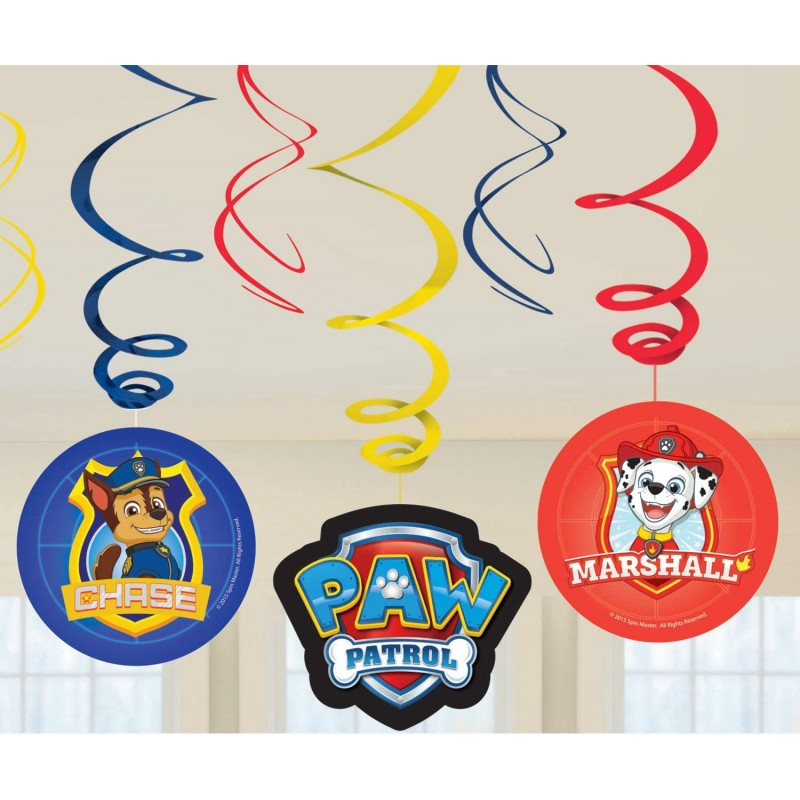 Paw Patrol spiral decorations