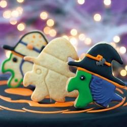 """Emporte-pièce """"Sorcière"""" halloween biscuits sablés pate à sucre colorants"""