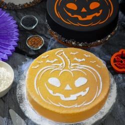 """Pochoir """"Halloween"""" citrouille halloween chauves-souris"""
