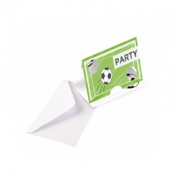 "Cartes d'invitation ""Foot"" - 8pcs anniversaire fête garç0n fille foot sport invitations"