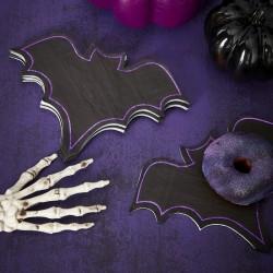 """serviettes """"Cercueil"""" halloween violet noir décoration salle fête anniversaire table couvert"""
