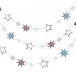 Arche de ballons étoilée décoration de salee mariage anniversaire baby shower argenté blanc étoiles guirlande étoile étoilée
