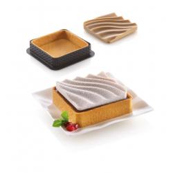 Kit mini tarte sand set mpôule tarte et insert effet sable tartelettes cercles perforés moule silicone
