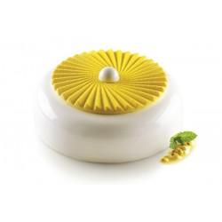 """Moule en silicone """"Plissé 100"""" insert plissé forme silicone rond couronne décoration gâteau et entremet"""