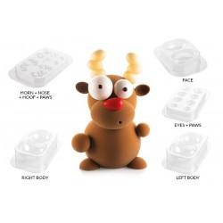 """Moule à chocolats """"Rudolf"""" chocolat moule Noël cerf nez rouge père noël moule plastique"""