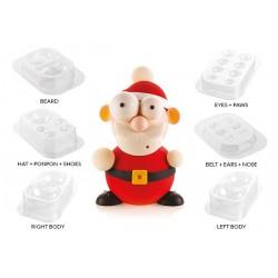 """Moule à chocolat """"Santa"""" chocolat montage Noël entremet fête père noël modelage"""