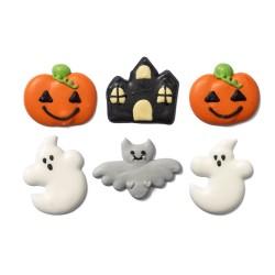 """Décorations en Sucre """"Citrouille"""" comestible halloween fantome maison hantée chauve-souris  décoration gâteau cupcke entremet"""