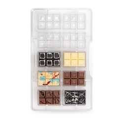 """Moule à chocolats """"Mini tablettes"""" chocolat décoration gâteau entremet numbercake mini tablettes"""