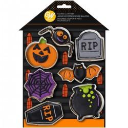 """Set emporte-pièces """"Halloween"""" set emporte-pièce citrouille cerceuil chauve-souris araignée halloween fête biscuit"""