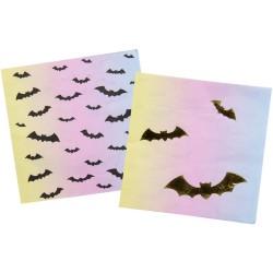 """serviettes """"Chauve-souris"""" halloween fête table décoration couverts"""