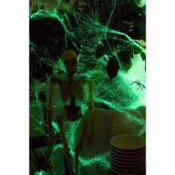 Toile d'araignée phosphorescente décoration halloween salle toile araignée brillante nuit