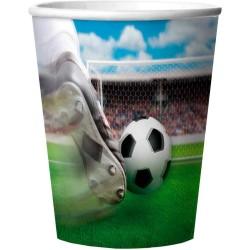 """Gobelets en plastique """"Foot"""" anniversaire fête décoration table couvert verre ballon de foot image qui bouge"""