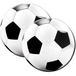 "Serviettes ""Foot"" anniversaire fête garçon sportif serviette ballon de foot couvert"