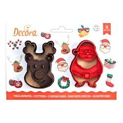 """Emporte-pièces """"Renne & Père-Noël"""" noël fête biscuit"""