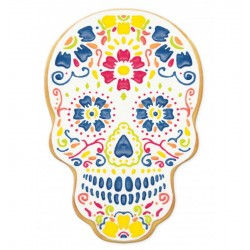 """Pochoir """"Calavera"""" biscuits halloween tête de mort mexicaine décoration"""