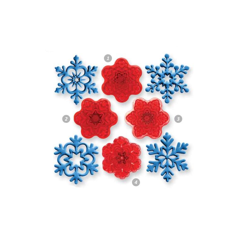 Découpoirs Flocons de neige Set/4