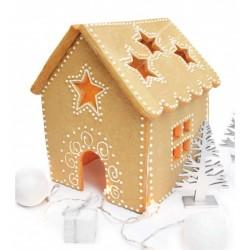 Maison de Noël XL patron chablon maison pain d'épice noël grande xl