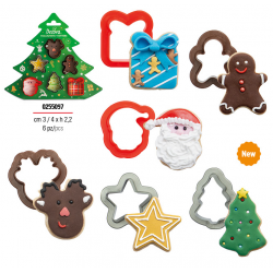 """Mini emporte-pièces """"Noël"""" biscuits noël fête père noël sapin bonhomme pain d'épice cadeau emporte-pièce petits"""
