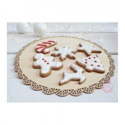 Plateau à biscuits en bois gâteau plateau chic bois entremet fête noël présentoir