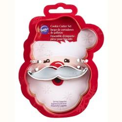 """Emporte-pièces """"Père-Noël avec moustache"""""""