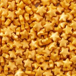 Étoiles dorées décoration comestible cupcake gâteau entremet bûches fête noël