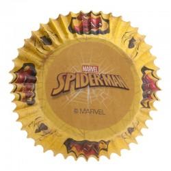 """Caissettes cupcakes """"Spiderman"""" cupcakes caissettes spiderman araignée super héros jaune"""