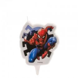 """Bougie """"Spiderman"""" fête anniversaire homme araignée bougie gâteau spidermann"""