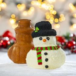 """Moule """"Bonhomme de neige"""" moule biscuits fête noël neige décoration gâteau"""