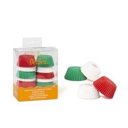 Mini caissettes blanc-rouge-vert cupcakes mini petit
