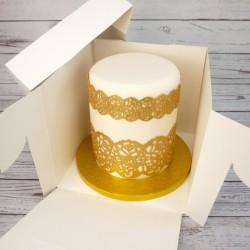 Boîte à gâteau de 25x25cm sur 22cm de haut