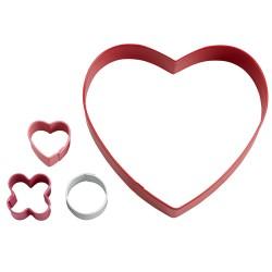 """Emporte-pièces """"XO Heart Game"""" Set/4"""