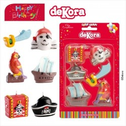 Bougies pirates - 6pcs