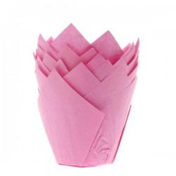 """Caissettes tulipe """"Rose"""""""