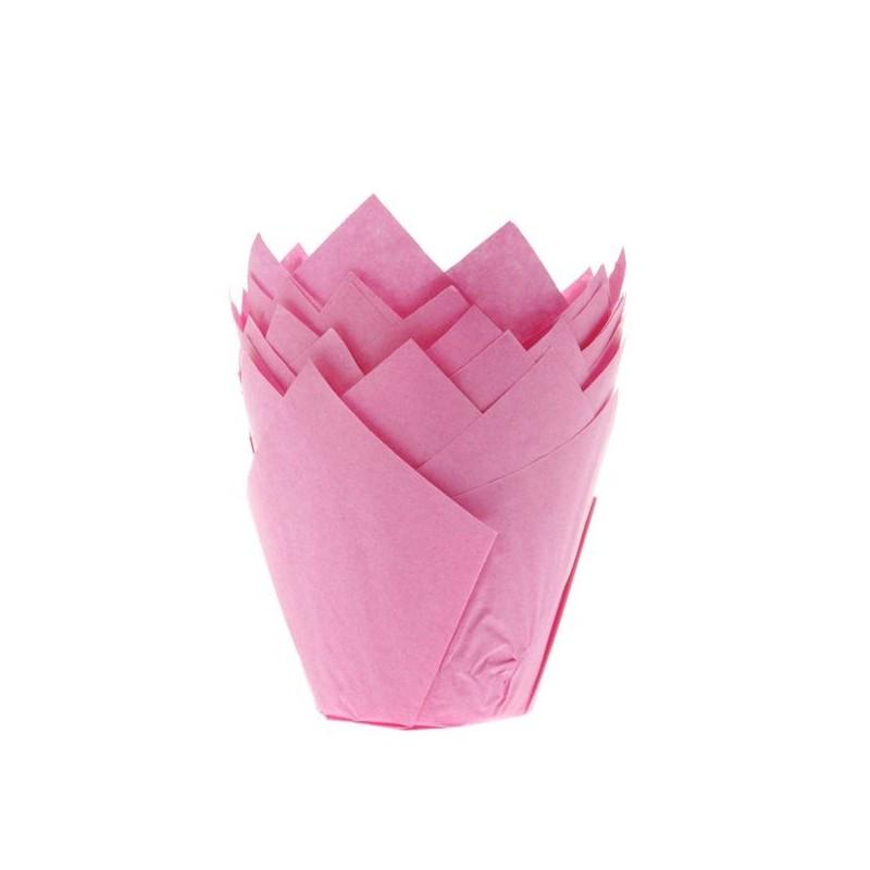 "Tulip baking cups ""Pink"""