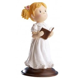 Figurine première communion fille - 12 cm